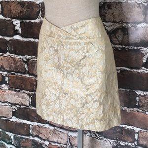Studio Y Pencil Skirt Gold Silver Texture  9 10